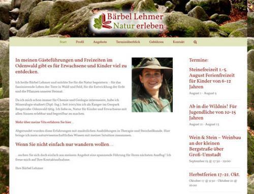 Bärbel Lehmer, Dipl. Mineralogin, GeoPark Ranger (Odenwald)