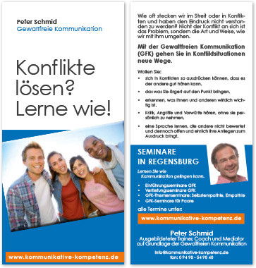 Peter Schmid alter Flyer