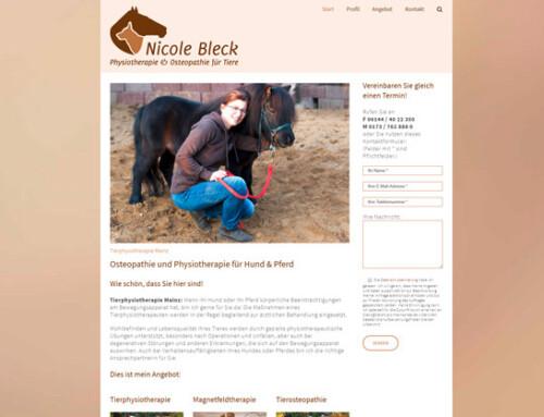 Nicole Bleck, Tierphysiotherapeutin